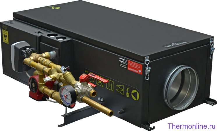 Приточная вентиляционная установка VENTMACHINE Колибри-1000 Water EC GTC