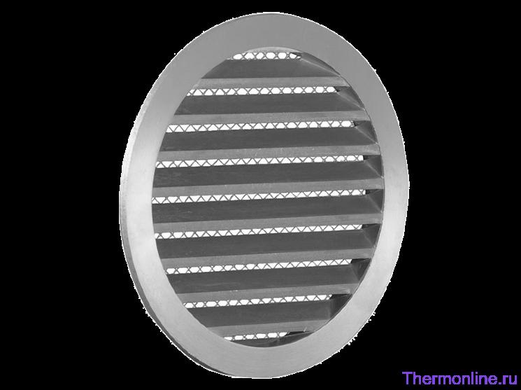 Алюминиевая наружная решетка для круглых воздуховодов SHUFT PGC 125