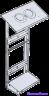Вертикальная монтажная рама с козырьком VENTMACHINE для ПВУ-350 EC ПВУ-500 EC арт 1099