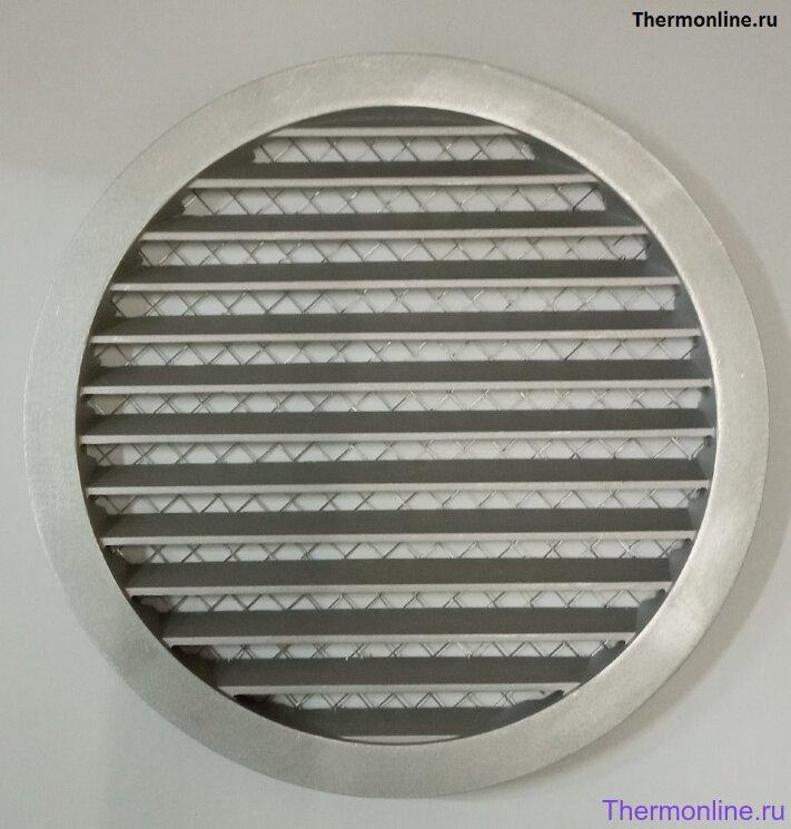 Алюминиевая наружная решетка для круглых воздуховодов SHUFT PGC 160