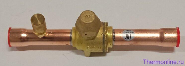 Шаровый кран с клапаном Шредера Danfoss GBC-BV 10S 5/8S