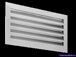 Алюминиевая решетка для наружной установки Shuft SA 400х200