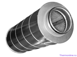 Шумоглушитель для круглых воздуховодов Shuft SCr 100/900
