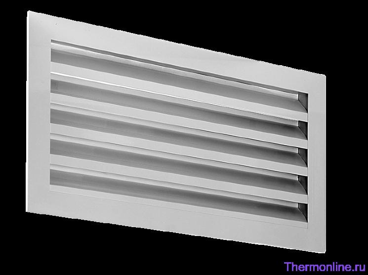 Алюминиевая решетка для наружной установки Shuft SA 1000х500