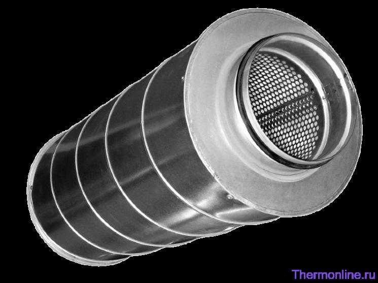 Шумоглушитель для круглых воздуховодов Shuft SCr 125/900