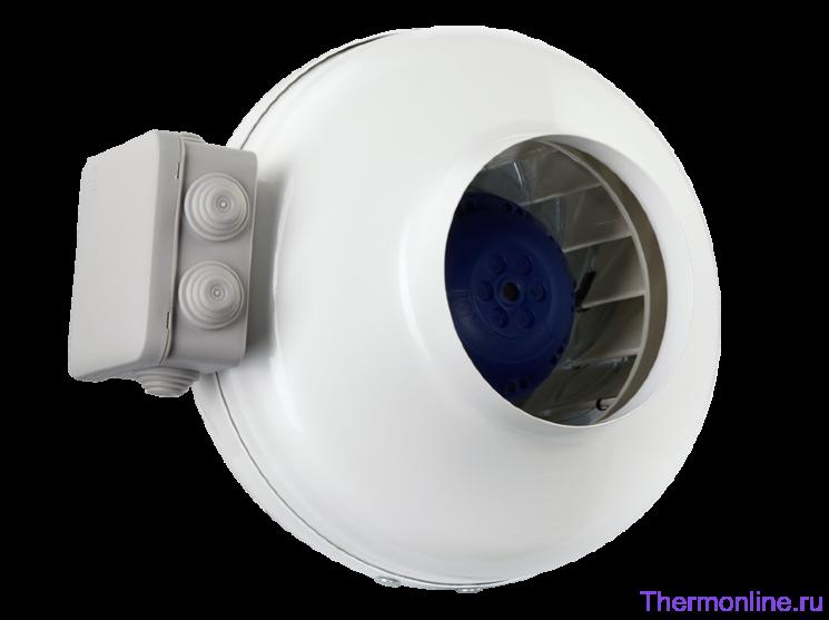 Круглый канальный высоконапорный вентилятор Shuft CFs 125 S