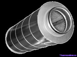 Шумоглушитель для круглых воздуховодов Shuft SCr 200/900