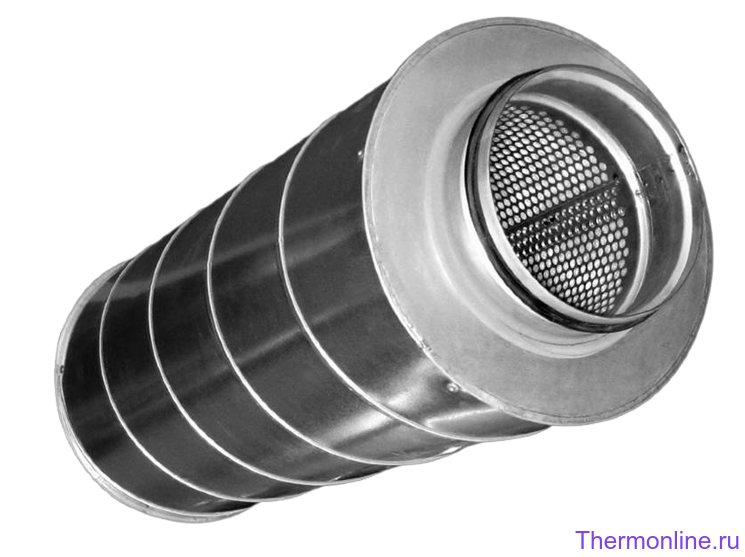 Шумоглушитель для круглых воздуховодов Shuft SCr 355/900