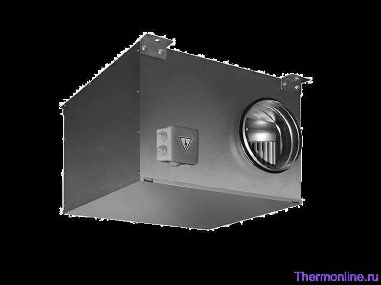 Вентилятор круглый канальный в звукоизолированном корпусе SHUFT ICFE 160 VIM