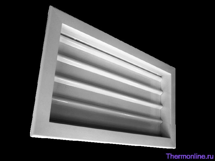 Алюминиевая настенная инерционная решетка Shuft GA 600x350