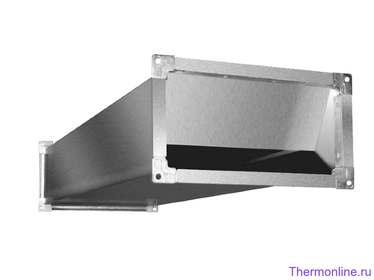 Шумоглушитель для прямоугольных воздуховодов Shuft SRr 500x250/1000