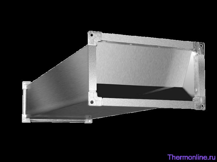 Шумоглушитель для прямоугольных воздуховодов Shuft SRr 1000x500/1000