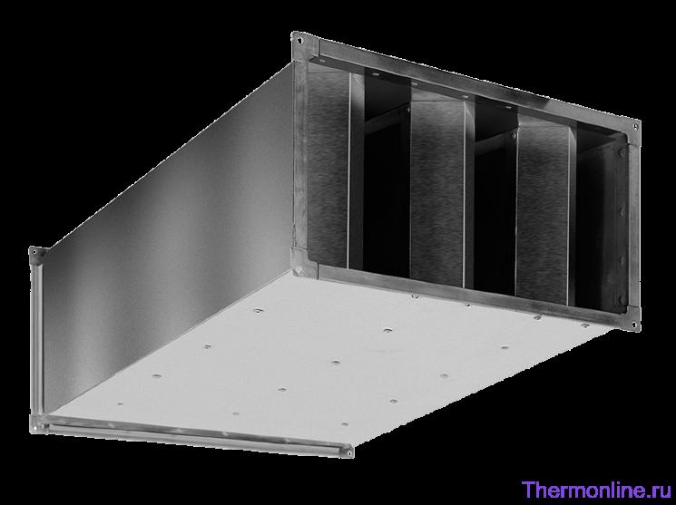 Шумоглушитель для прямоугольных воздуховодов Shuft SRSr 500x300/1000