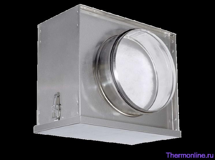 Воздушный фильтр-бокс с фильтром для круглых воздуховодов Shuft FBCr 100